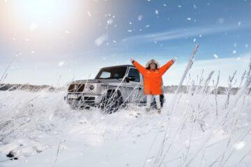 Mia Litström provkör Mercedes-Benz G-Klass Cars and Watches for Ladies