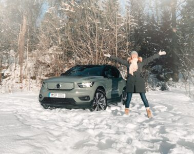 Mia Litström provkörning Volvo XC40 P8 Recharge